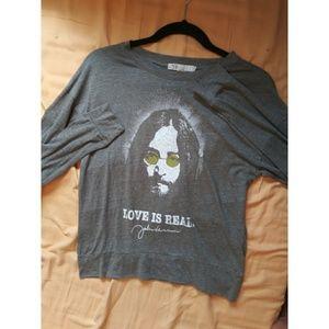 John Lennon Love is Real Long Sleeve Shirt
